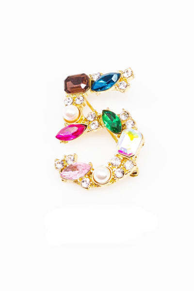 5 Series Brooch - Numero Cinco - EarringEverything.com - Brooch - earrings - fashion - fashion_accessories