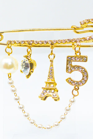 5 Series Brooch - Paris - EarringEverything.com - Brooch - earrings - fashion - fashion_accessories