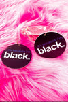 Because I'm Black Hoops - EarringEverything.com - Hoops - earrings - fashion - fashion_accessories