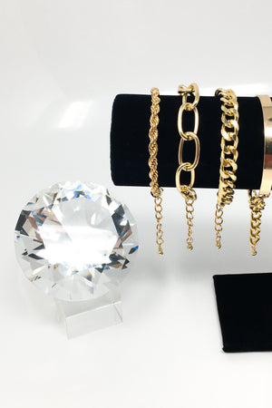 "Boujee Red Collection: ""Run It Up"" 4 Layer Bracelet - EarringEverything.com - Necklace - earrings - fashion - fashion_accessories"