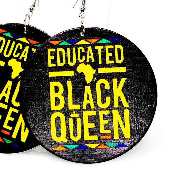 Educated Black Queen Hoops | EarringEverything.com