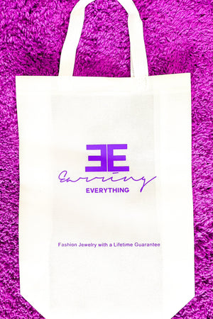 EE - Monogrammed Tote - EarringEverything.com - Organizer - earrings - fashion - fashion_accessories