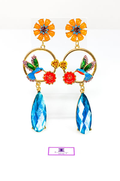 Hummingbird Tropic Earrings - EarringEverything.com - Drop Earring - earrings - fashion - fashion_accessories