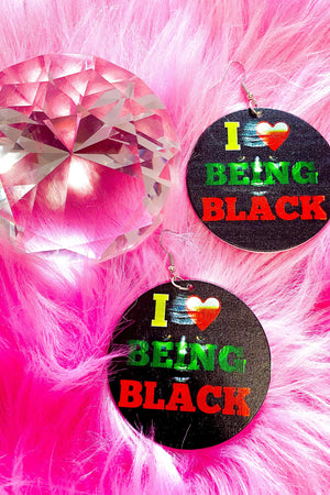 I Love Being Black Hoops - EarringEverything.com - Hoops - earrings - fashion - fashion_accessories