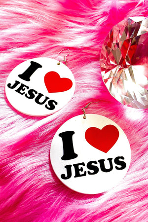 I Love Jesus Hoops - EarringEverything.com - Hoops - earrings - fashion - fashion_accessories