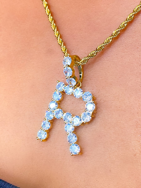 So Icy Printed Letter Pendant