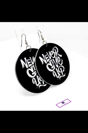 Never Give Up Hoops - EarringEverything.com - Hoops - earrings - fashion - fashion_accessories
