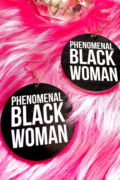 Phenomenal Black Woman Hoops - EarringEverything.com - Hoops - earrings - fashion - fashion_accessories