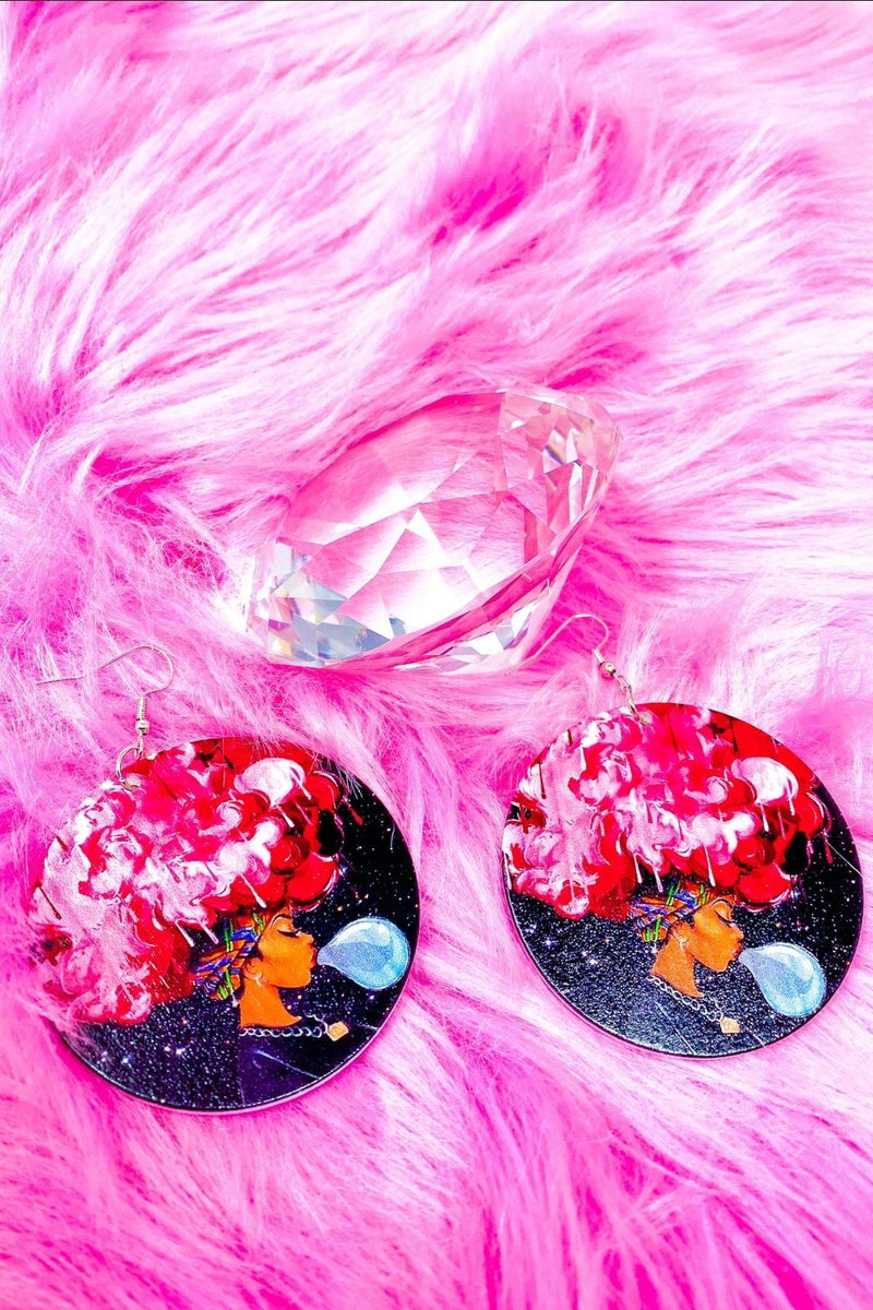 Pink Afro Queen Hoops - EarringEverything.com - Hoops - earrings - fashion - fashion_accessories