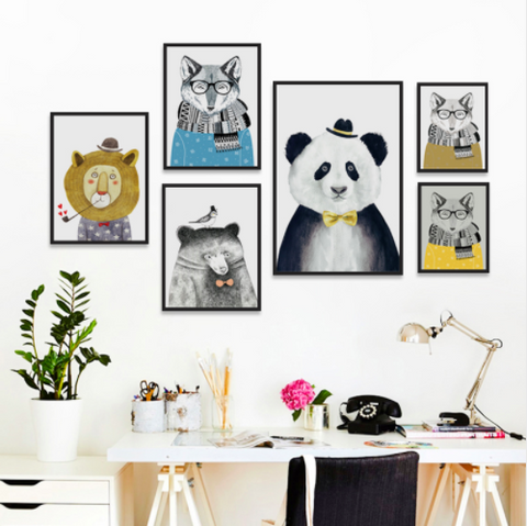 'Animal Gentlemen Portraits' - Canvas Art Prints