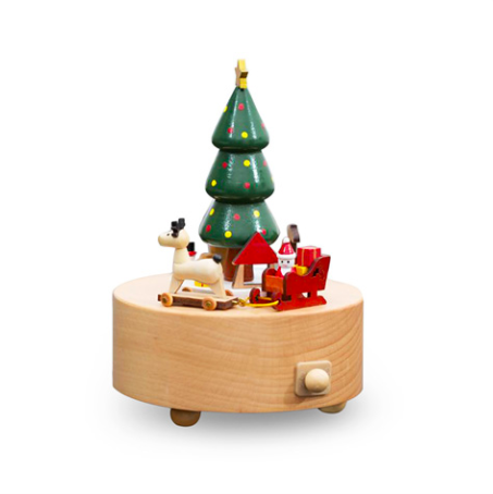Magical Music Box Christmas Tree Santa Reindeer