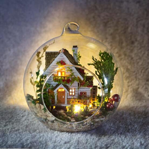 DIY Miniature Glass Bauble - 'Forest House'