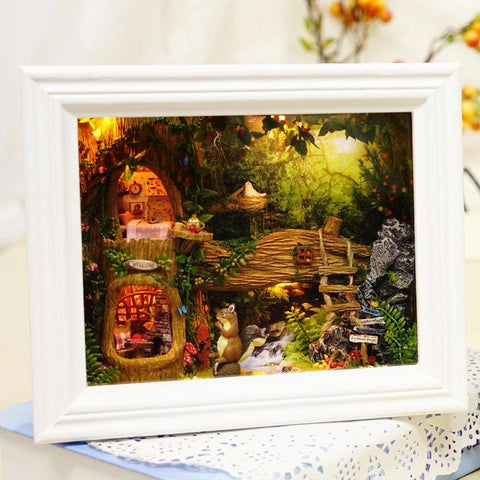 DIY Dollhouse Frame - Squirrel's 'Nut's Station'