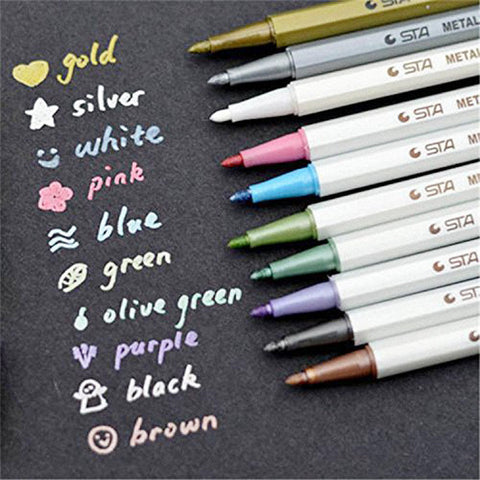 STA Metallic Marker Pens Set of 10