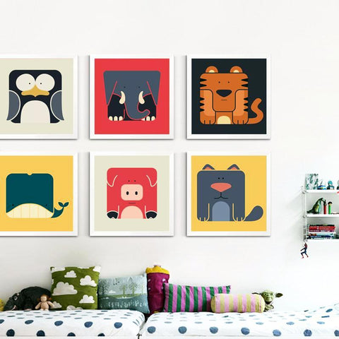 'Cube Critters' - Kids Canvas Art Prints