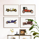 'Vintage Motoring' - Canvas Art Prints