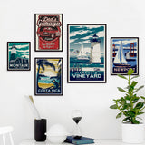 Montauk, Costa Rica, Martha's Vineyard, Newport canvas art prints