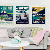 Montauk, Nantucket, Aruba canvas art prints