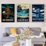 San Francisco, Hawaii, Brooklyn New York canvas art prints