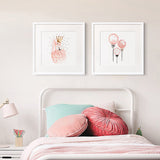 'Flamingo Princess' - Kids Canvas Art Prints