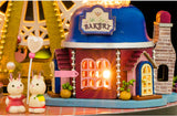 DIY Miniature Dome - 'Ferris Wheel' - Characters near bakery