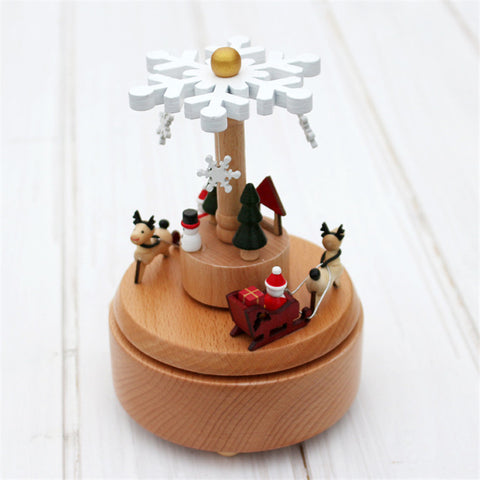 Magical Music Box Snowflake Santa Reindeer
