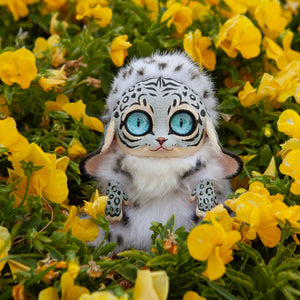 White Tiger Creature, Fantasy Doll Animal, Furry Tiger Creature, Cute Fantasy Plush, Plush Fantasy Animals, Tiger Gifts for Her - Nafantano