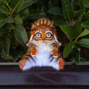 Tiger Fantasy Animal Art Doll, Fantasy Creature Doll, Cute Fantasy Creature Plush, Furry Fantasy Animal Poseable, Tiger Gifts for Her - Nafantano