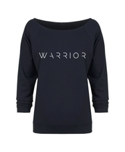 Warrior Signature Raw Edge Neck 3/4 Sleeve Raglan Navy