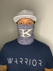 K Small Triangles Gray Gaiter Mask