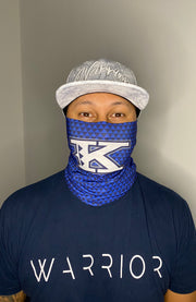K Small Triangles Blue Gaiter Mask