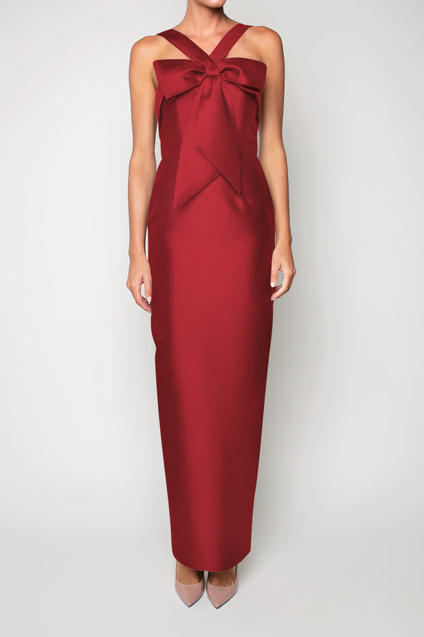 Eva Silk and Wool Column Gown