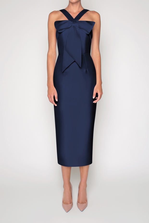 Eva Silk and Wool Midi Dress