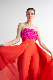 Flora Jumpsuit with Convertible Skirt