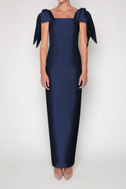 Gracie Silk and Wool Column Gown