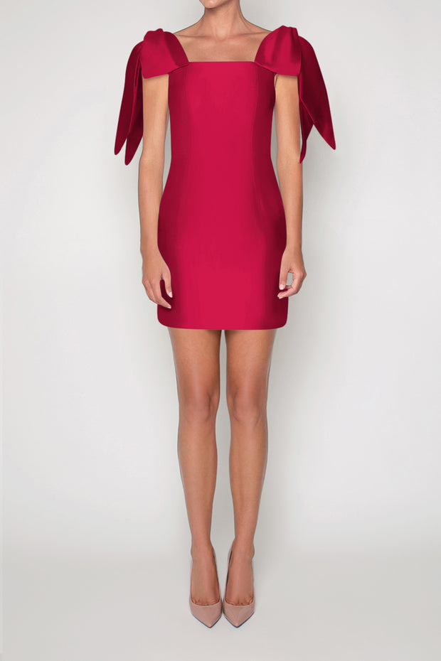 Gracie Silk and Wool Mini Dress With Convertible Skirt