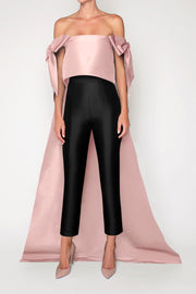 Isabella Silk Faille Cape Top