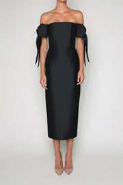Isabella Silk and Wool Midi Dress