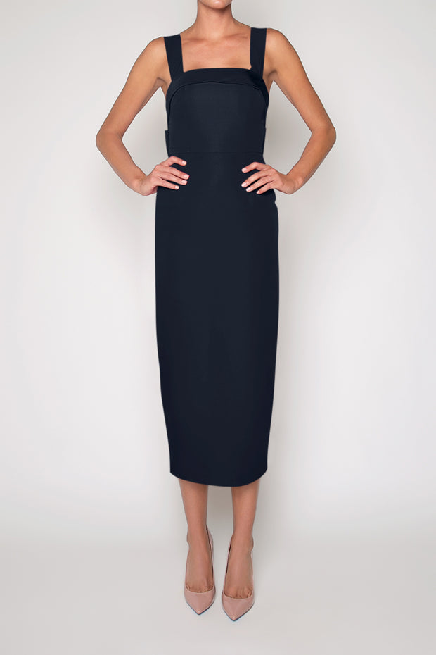 Laura Silk Faille Midi Dress