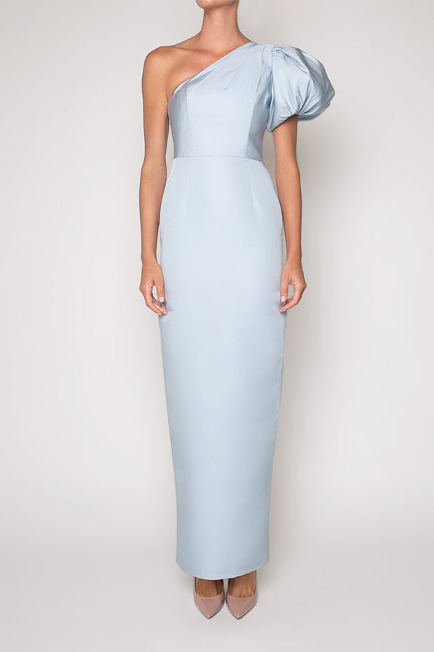Lily Silk Faille Column Gown