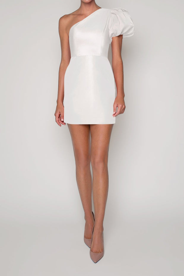 Lily Silk Faille Mini Dress