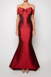 Lisa Silk and Wool Mermaid Gown