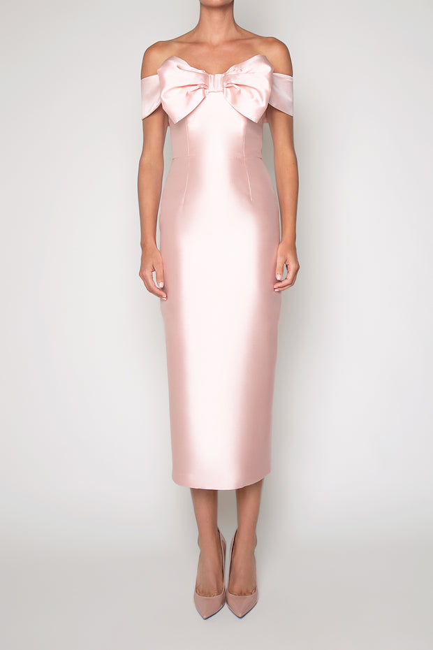 Lisa Silk and Wool Midi Dress