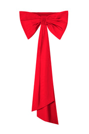 Silk Faille Bow Back Sash