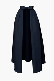 Silk Faille Bow Convertible Skirt