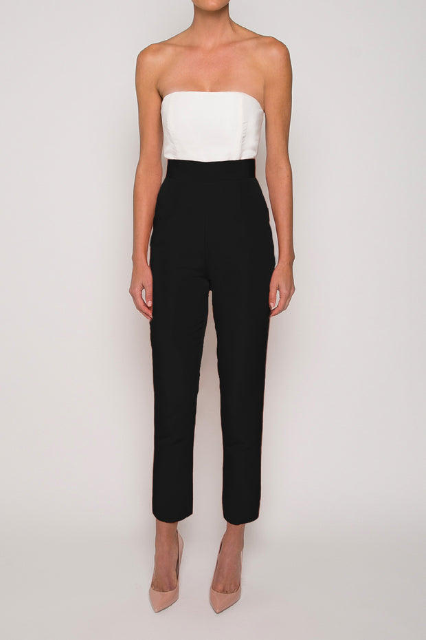 Silk Faille Cigarette Pants