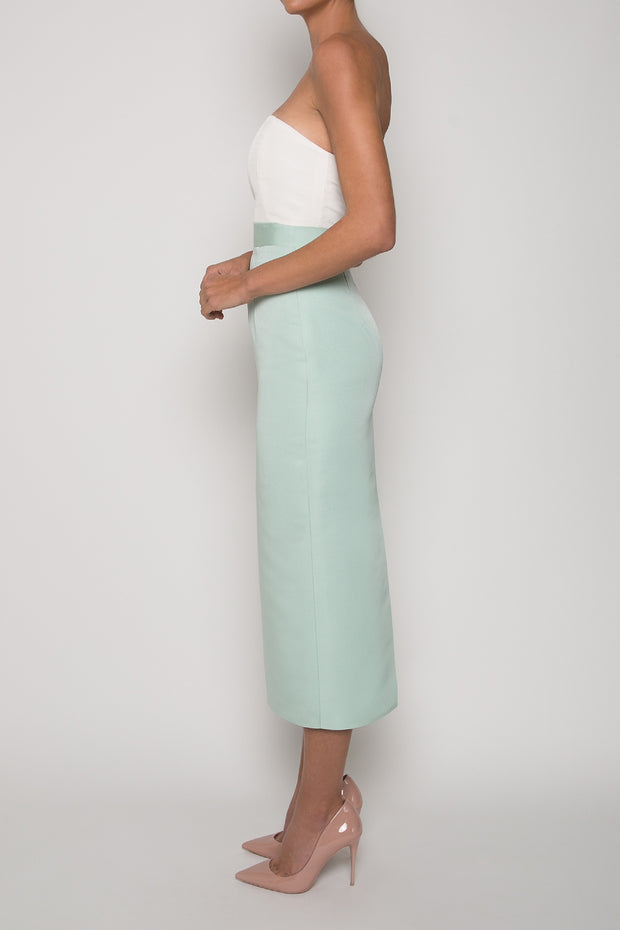 Silk Faille Pencil Skirt