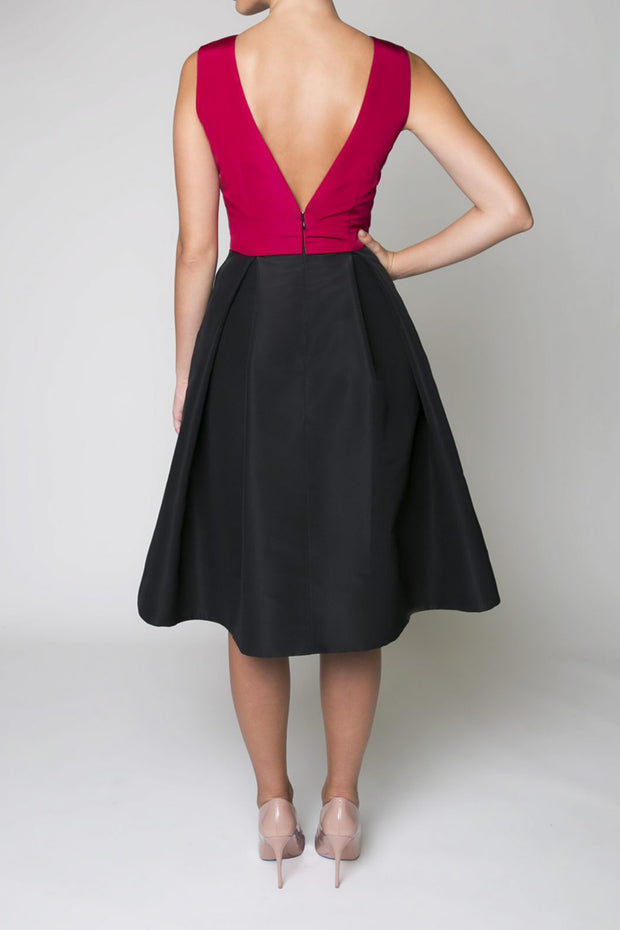 Silk Faille Sleeveless Cocktail Dress