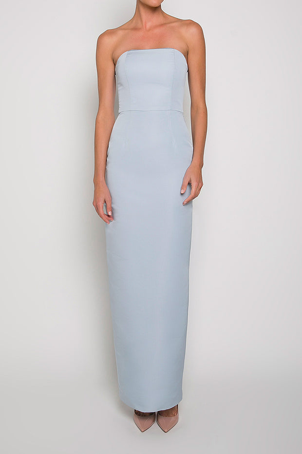 Silk Faille Strapless Column Gown