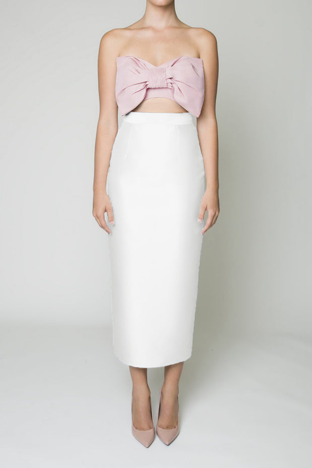 Silk Wool Pencil Skirt